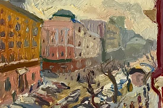 Выставка картин во льду «Город К*» художника Маркела Андронова