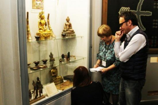 Гости из Санкт-Петербурга в Красноярском краевом краеведческом музее