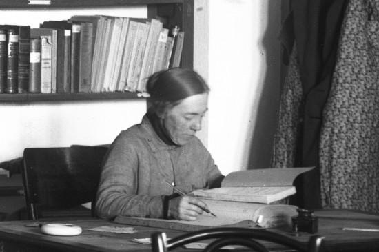 Библиотекарь музея Марфа Дмитриевна Соловьёва