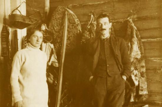 Иностранные антропологи в Красноярском музее в 1915 году