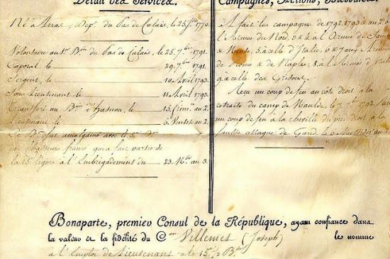 Автограф Наполеона